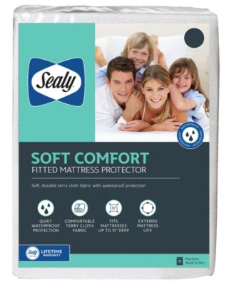 Soft Comfort Fitted Mattress Protector, Twin