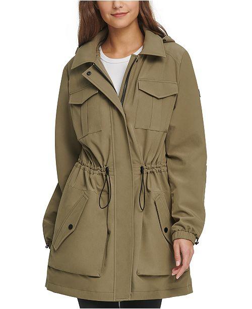 DKNY Hooded Water-Resistant Anorak Jacket