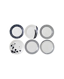 Pacific Set/6 Mixed Dinner Plate