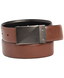 Men's Stretch Reversible Plaque Belt