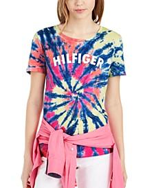 Cotton Tie-Dyed Logo T-Shirt