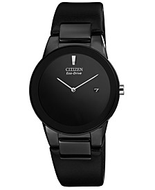 Men's Eco-Drive Axiom Black Leather Strap Watch 40mm AU1065-07E