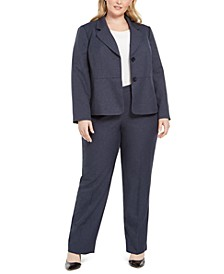 Plus Size Two-Button Pantsuit
