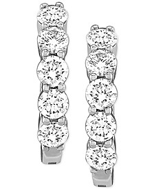 Lab-Created Diamond Small Huggie Hoop Earrings (5/8 ct. t.w.) in Sterling Silver, .59""