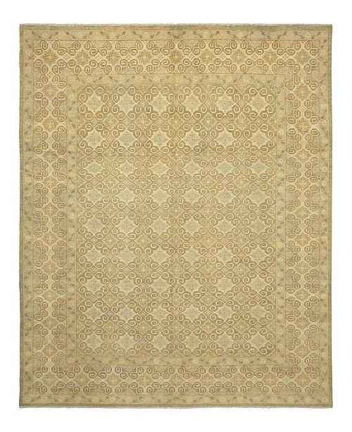 "Timeless Rug Designs CLOSEOUT! One of a Kind OOAK898 Flax 9'1"" x 11'7"" Area Rug"
