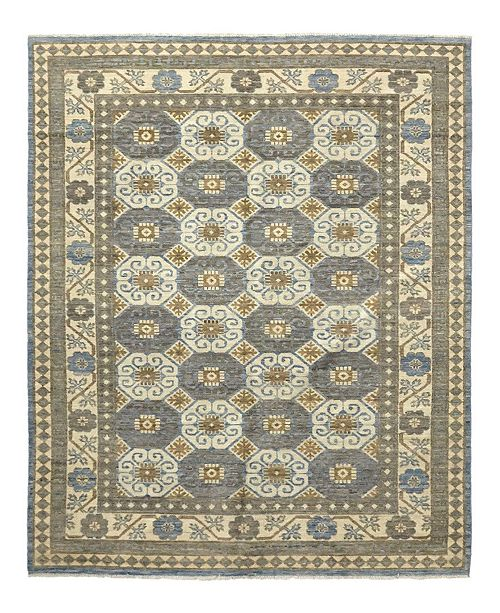 """Timeless Rug Designs CLOSEOUT! One of a Kind OOAK918 Gray 6'2"""" x 8'10"""" Area Rug"""