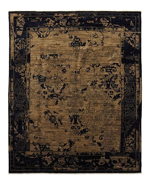 "Timeless Rug Designs CLOSEOUT! One of a Kind OOAK945 Mocha 7'10"" x 9'9"" Area Rug"