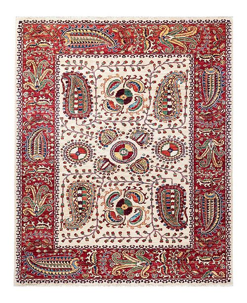 """Timeless Rug Designs CLOSEOUT! One of a Kind OOAK1811 Ivory 5'10"""" x 8'10"""" Area Rug"""