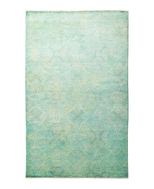 "Timeless Rug Designs CLOSEOUT! One of a Kind OOAK1915 Lime 5'2"" x 8'3"" Area Rug"