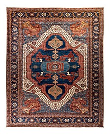 "Timeless Rug Designs One of a Kind OOAK2211 Navy 12'3"" x 17'9"" Area Rug"
