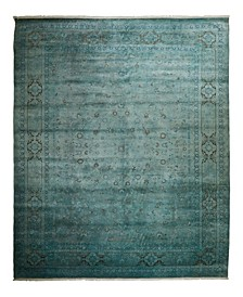 """One of a Kind OOAK2334 Teal 9'1"""" x 11'10"""" Area Rug"""