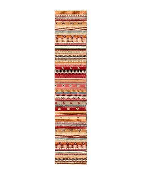 """Timeless Rug Designs CLOSEOUT! One of a Kind OOAK2818 Caramel 2'1"""" x 10' Runner Rug"""