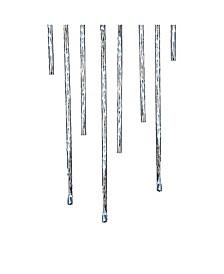 Indoor/Outdoor 144-Light Winter White Meteor Shower LED Light Sticks