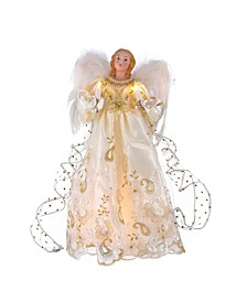 UL 10-Light 14-Inch Gold Angel Treetop