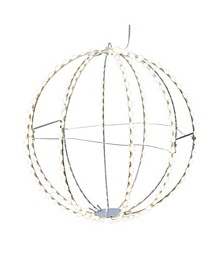 12-Inch Warm White LED Foldable Metal Sphere