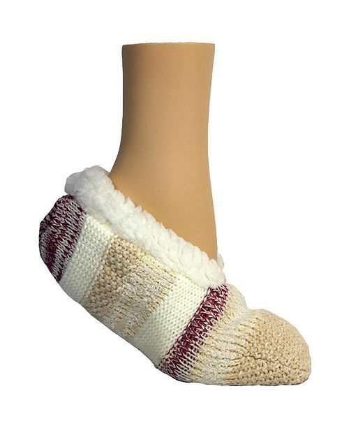 Steve Madden Women's Mixed Media with Lurex Lounge Slipper Sock, Online Only