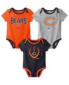 Baby Chicago Bears Icon 3 Pack Bodysuit Set
