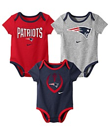 Baby New England Patriots Icon 3 Pack Bodysuit Set