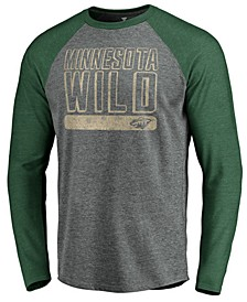 Men's Minnesota Wild Enforcer Long Sleeve Tri-Blend T-Shirt
