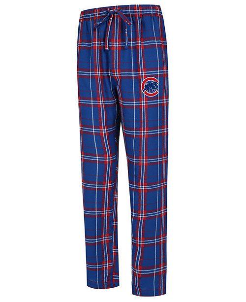Concepts Sport Men's Chicago Cubs Hillstone Flannel Pajama Pants
