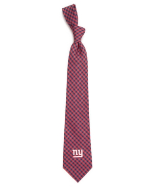 New York Giants Poly Gingham Tie