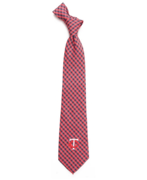 Minnesota Twins Poly Gingham Tie