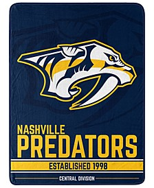 Nashville Predators Micro Raschel Break Away Blanket