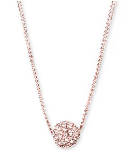 "Givenchy Crystal Fireball 16"" Pendant Necklace"