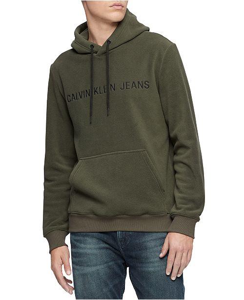 Calvin Klein Jeans Men's Fleece Logo Hoodie