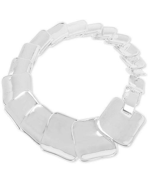 Robert Lee Morris Soho Silver-Tone Sculptural Square Link Bracelet