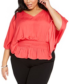 Plus Size Smocked Top, Created for Macy's
