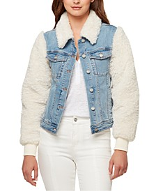 Minka Faux-Fur Jean Jacket