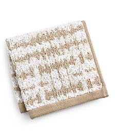 "Ultimate MicroCotton Mosaic 13"" x 13"" Wash Towel, Created for Macy's"
