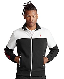 Men's Color-Blocked Double-Knit Jacket