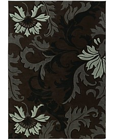 "Contours Orleans 510 21166 912 Brown 7'10"" x 10'6"" Area Rug"