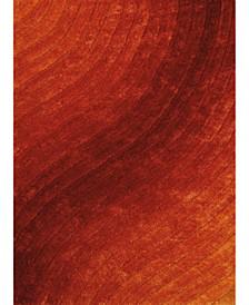 "Finesse Allure 2100 20638 58 Orange 5'3"" x 7'2"" Area Rug"
