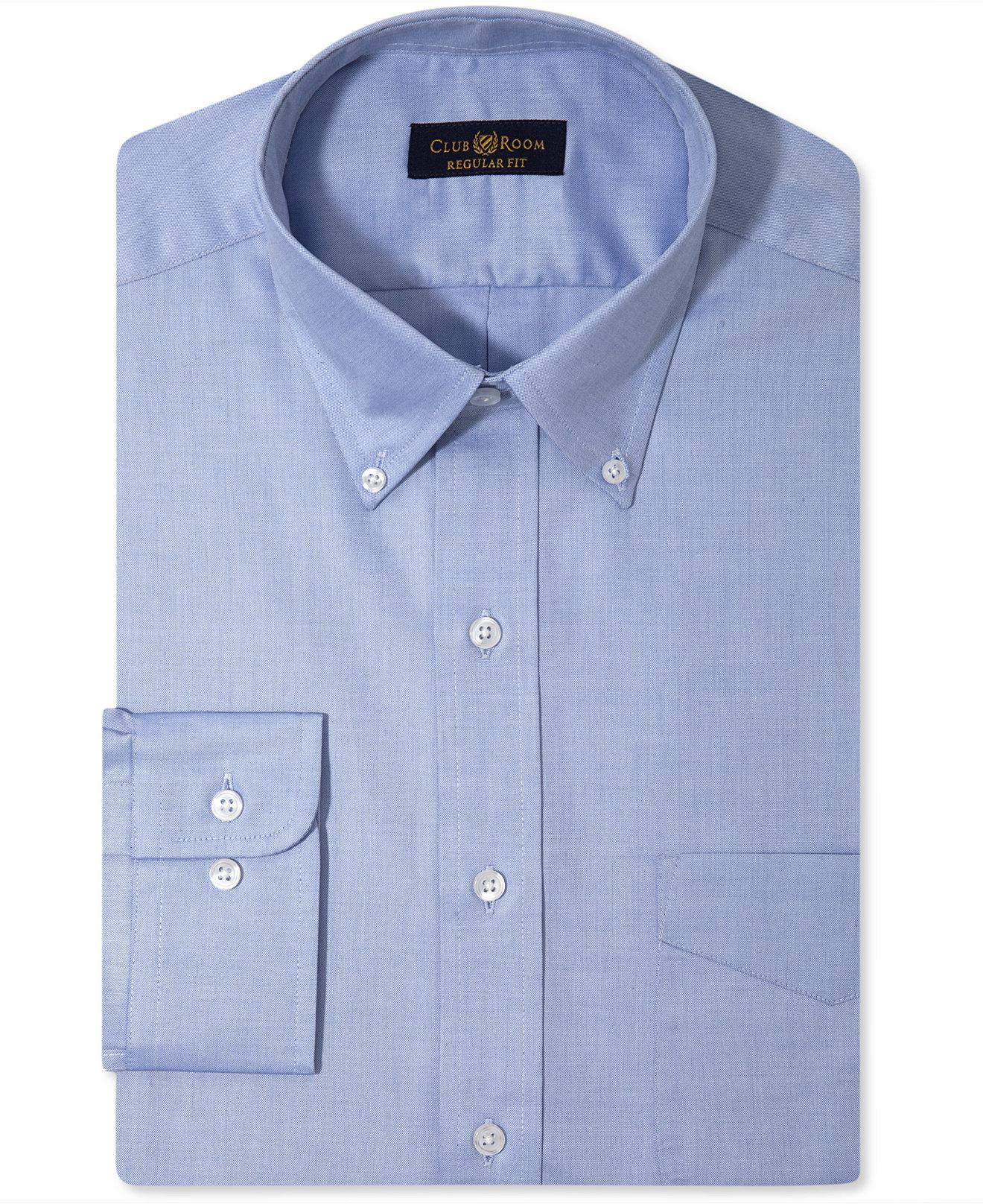 Mens Navy Blue Dress Shirt