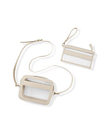 Cathy's Concepts Vegan Leather Clear Stadium Set