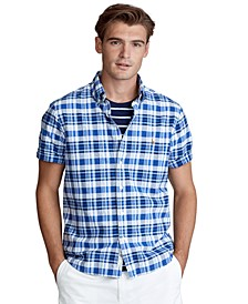 Men's Big & Tall Classic Fit Plaid Oxford Shirt