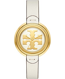 Women's The Miller Ivory Leather Strap Watch 36mm