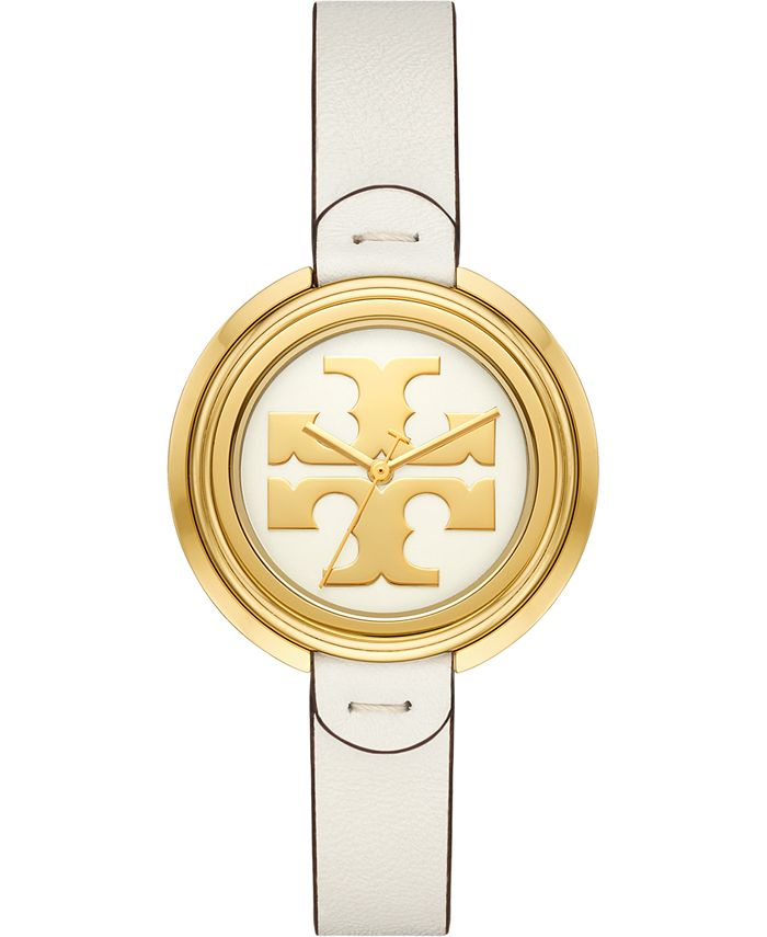 Tory Burch - Women's The Miller Ivory Leather Strap Watch 36mm