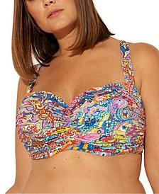 Plus Size Groovy Baby Printed Underwire Bikini Top