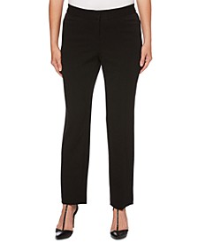 Women's Curvy Fit Gabardine Slim Leg Pant- Short Inseam