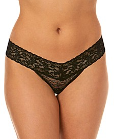 Women's Metallic Low Rise Leopard One Size Thong 1F1586