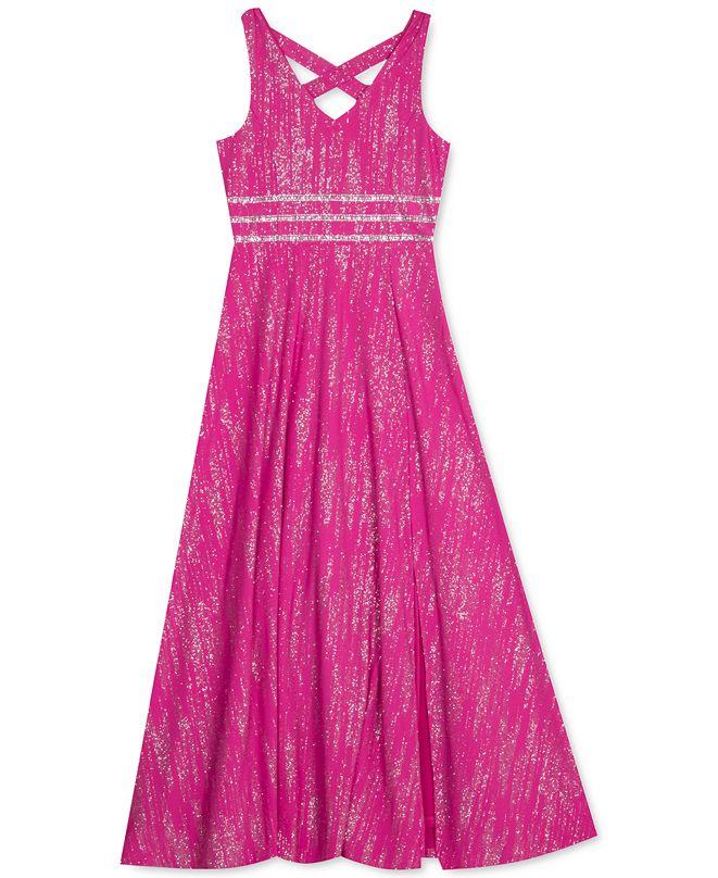 Rare Editions Big Girls Embellished Sparkle Dress