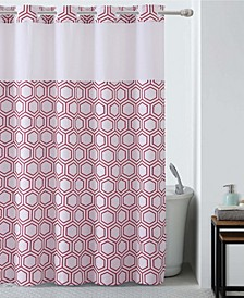 Metro Hex Shower Curtain with Peva Liner