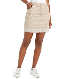 Caraway Stars Embroidered Skort, Created for Macy's