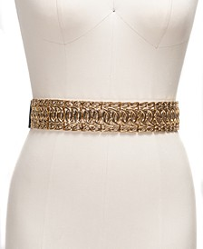 INC Wide Metal Stretch Belt, Created For Macy's
