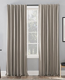 """Evelina Faux Silk 50"""" x 95"""" Thermal Blackout Curtain Panel"""