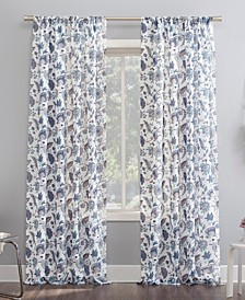 Sarita Floral Print Sheer Curtain Panel Collection